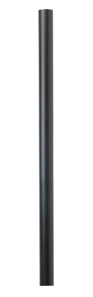 Aluminum pole, black finish