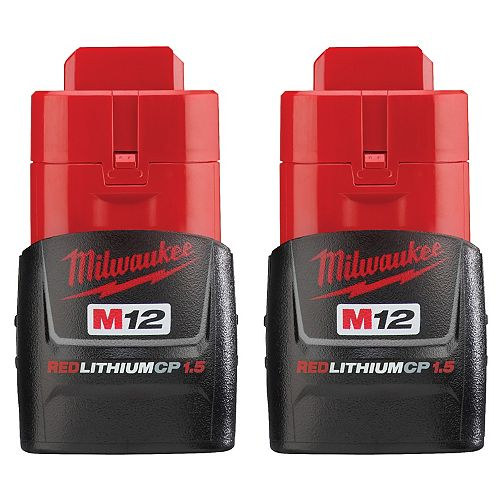 M12 12V Lithium-Ion Compact (CP) 1.5 Ah REDLITHIUM Battery (2 Pack)