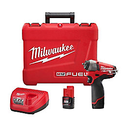 Milwaukee Tool 1/4- Inch M12 FUEL Impact Wrench