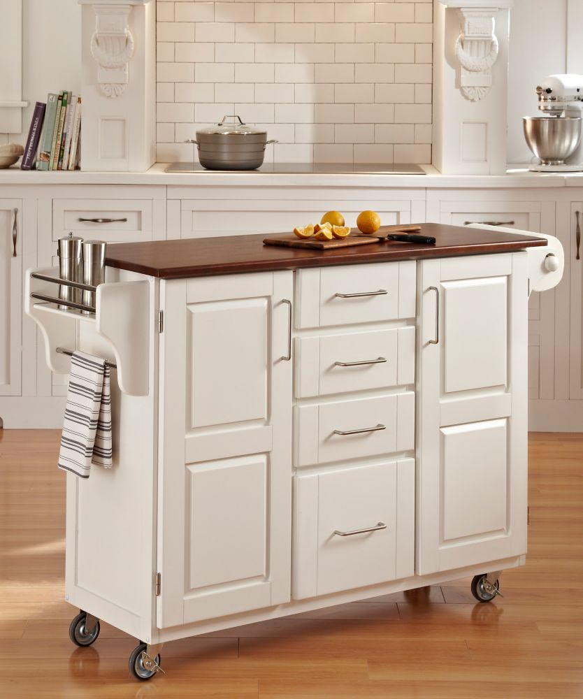 Hotte Ilot Central Faux Plafond ~ Woodbridge Two Tier Kitchen Island With Matching Stools The Home