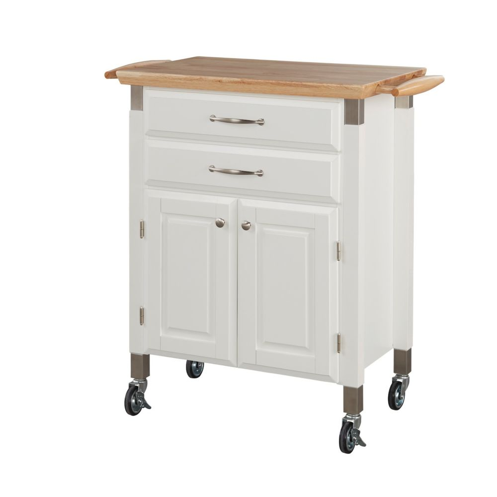 Home Styles Dolly Madison White Kitchen Cart The Home Depot Canada