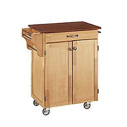 Home Styles Chariot de cuisine finition naturelle avec plateau bois de cerisier