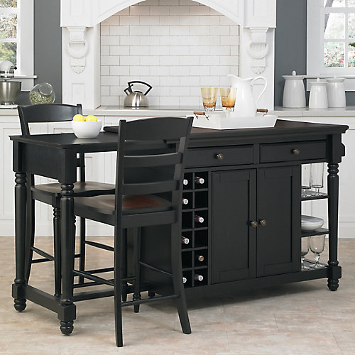 Home Styles Grand Torino Kitchen Island Two Stools The Home - Home depot canada kitchen island