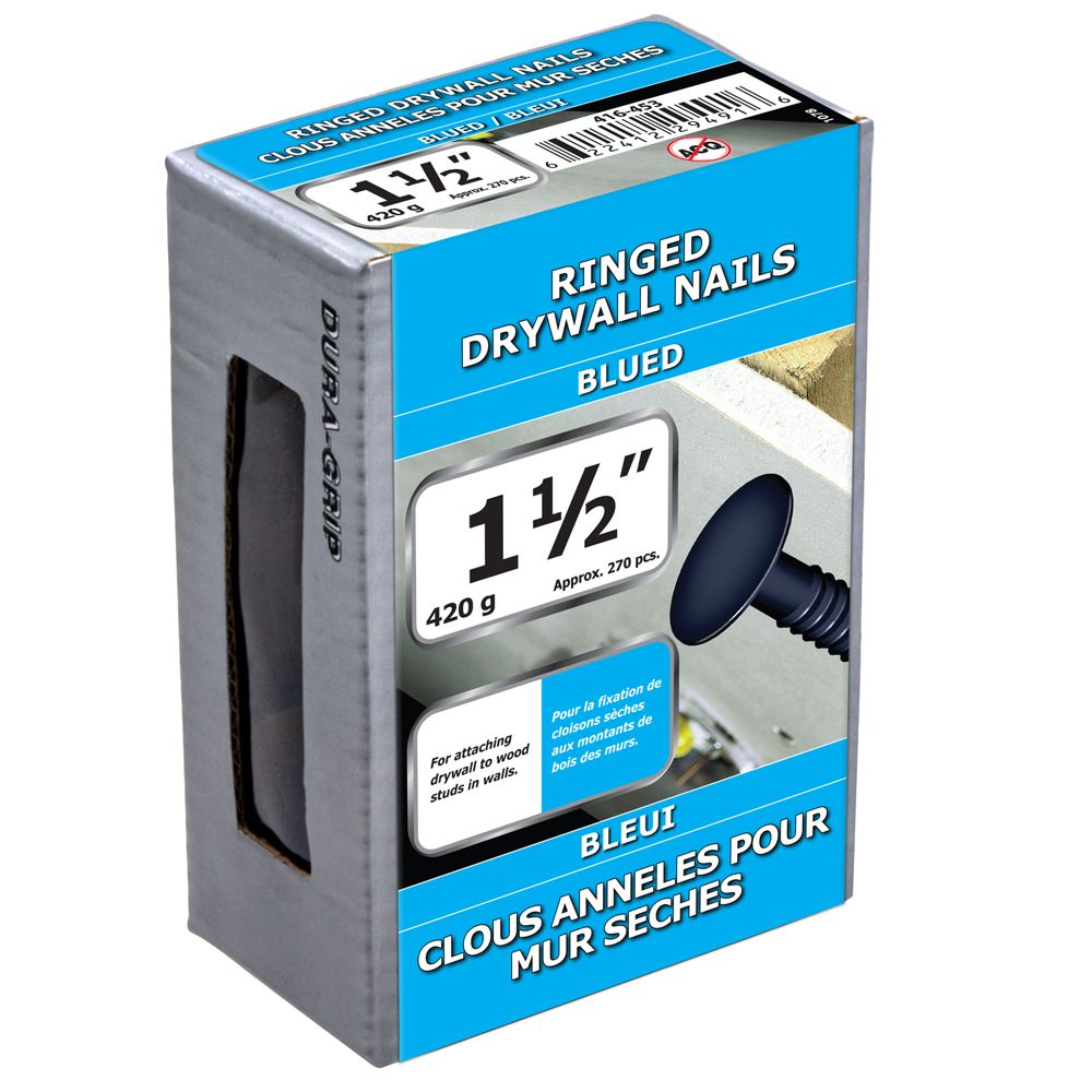 "1 1/2"" Drywall Ringed Blue 420g"