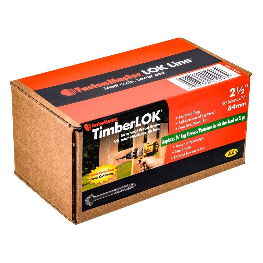 2-1/2 Inch. Timberlok  50pcs