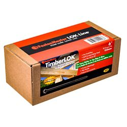 FastenMaster 6- Inch TimberLOK Structural Wood Screws in Black (50 Pcs)