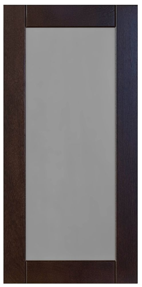 Wood Glass Door Barcelona  Choco