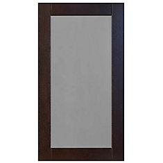 Wood Glass Door Barcelona 16 1/2 x 30 1/8 Choco