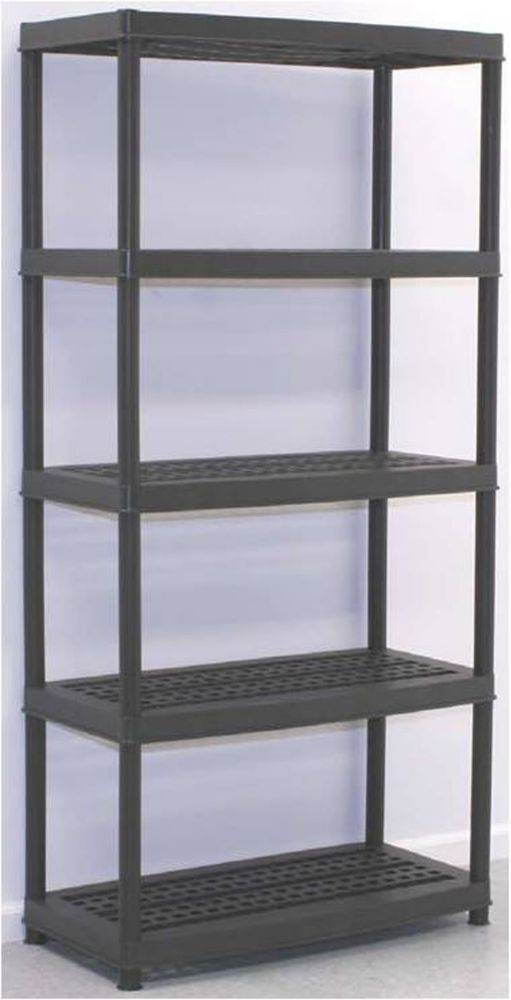 resin partners 5 shelf black the home depot canada