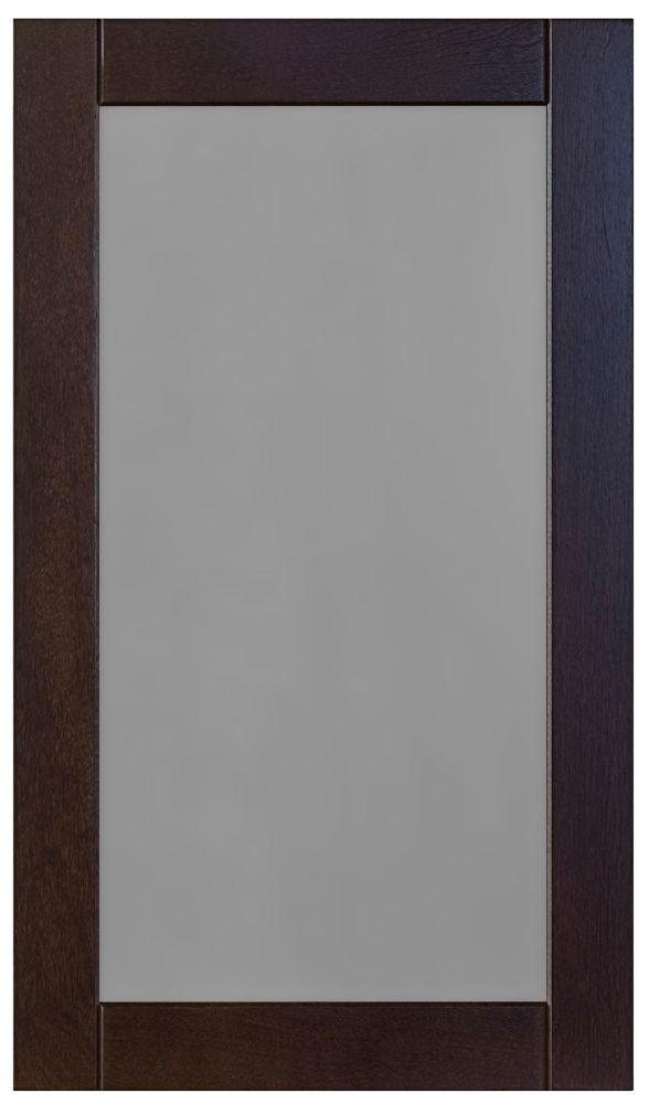 Wood Glass Door Barcelona 17 3/4 x 30 1/8 Choco