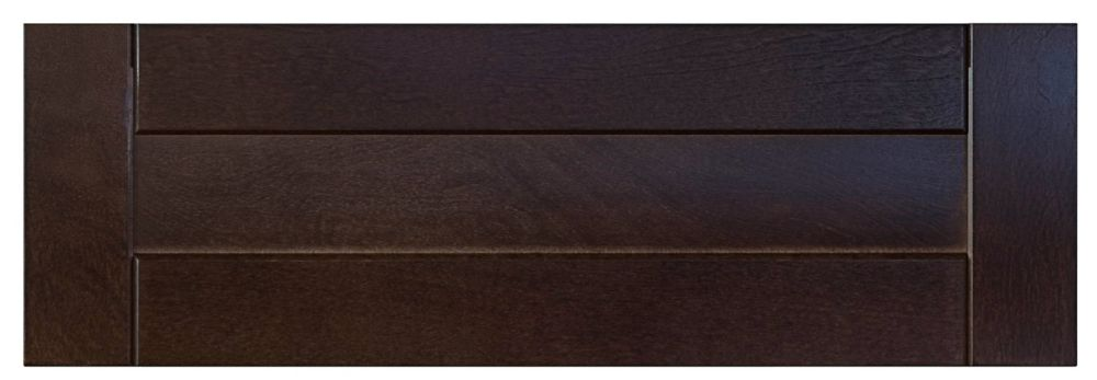 Wood Drawer front Barcelona 23 3/4 x 7 1/2 Choco