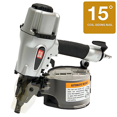 2 1/2 Inch 15 Degree Wire and Plastic Collation Coil Siding Nailer