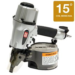 Grip-Rite 2 1/2 Inch 15 Degree Wire and Plastic Collation Coil Siding Nailer