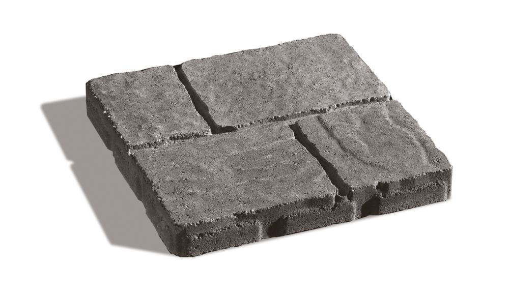 Dalle Quadral Nuancé gris et charbon