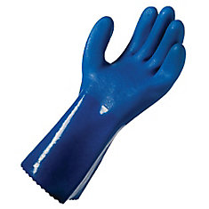 Long Cuff PVC Coated Gloves - Large