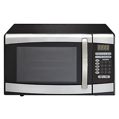 Danby Designer 0 9 Cu Ft Countertop Microwave In Stainless Steel The Home Depot Canada