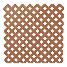 0.2 Inch x 48 Inch x 8 Feet Redwood Privacy Plastic Lattice