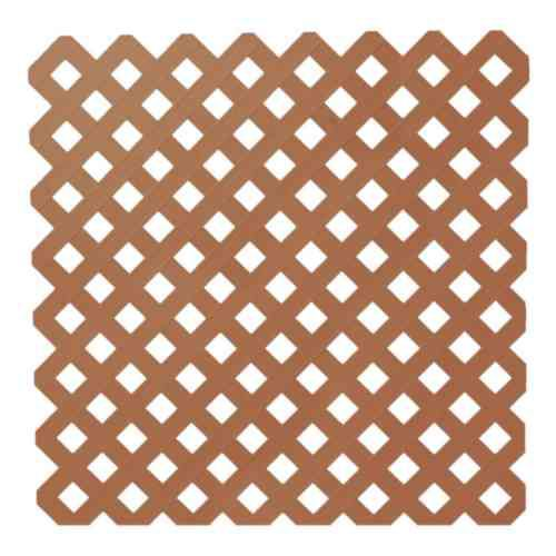 Veranda 0.2 Inch x 48 Inch x 8 Feet Redwood Privacy Plastic Lattice