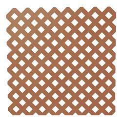 Veranda 0,2 po x 48 po x 8 pi. Trellis de Plastique d'Intimité de Séquoia