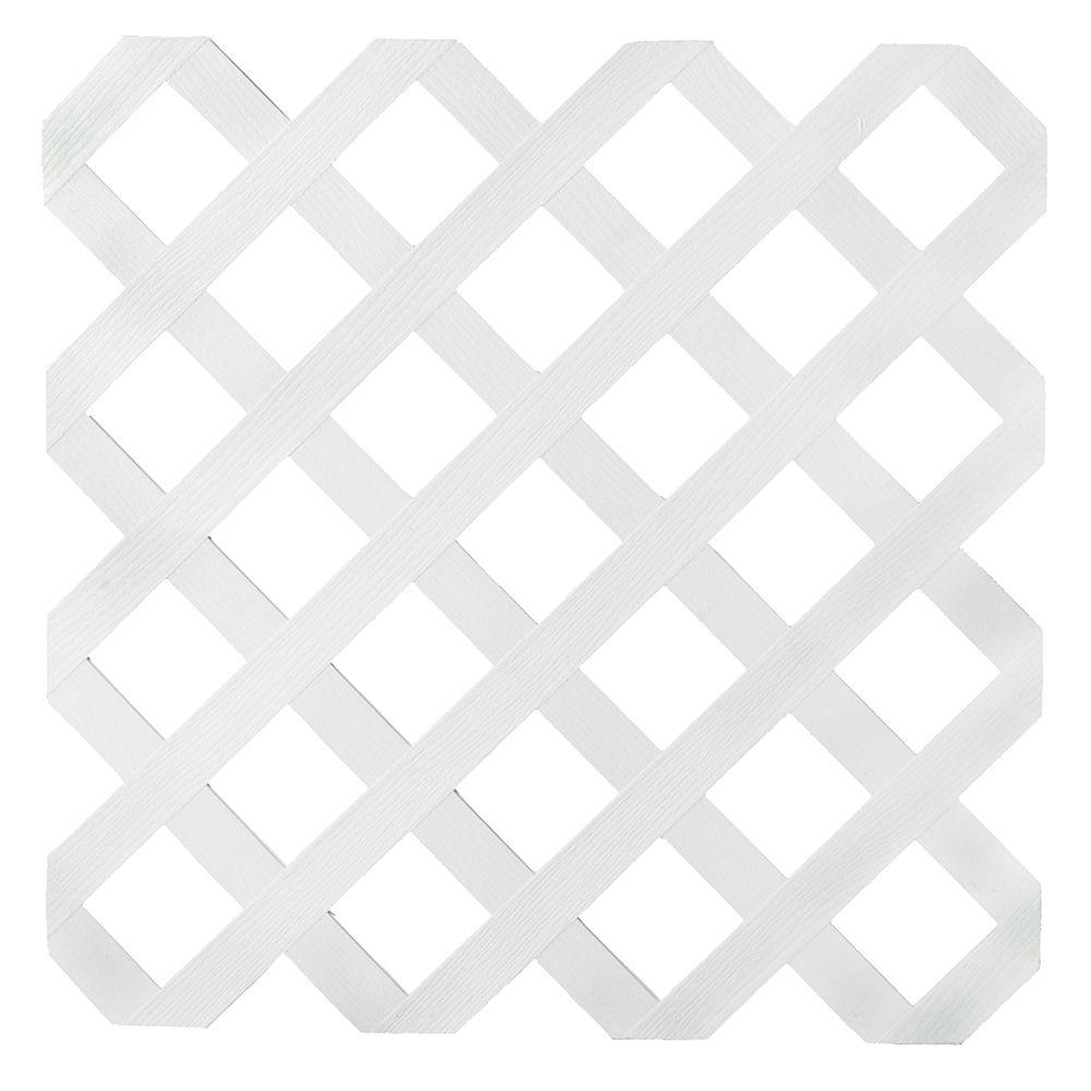 Veranda Veranda 4x8 White Reg Plastic Lattice The Home Depot Canada