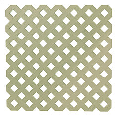 0.2 Inch x 48 Inch x 8 Feet Khaki Privacy Plastic Lattice
