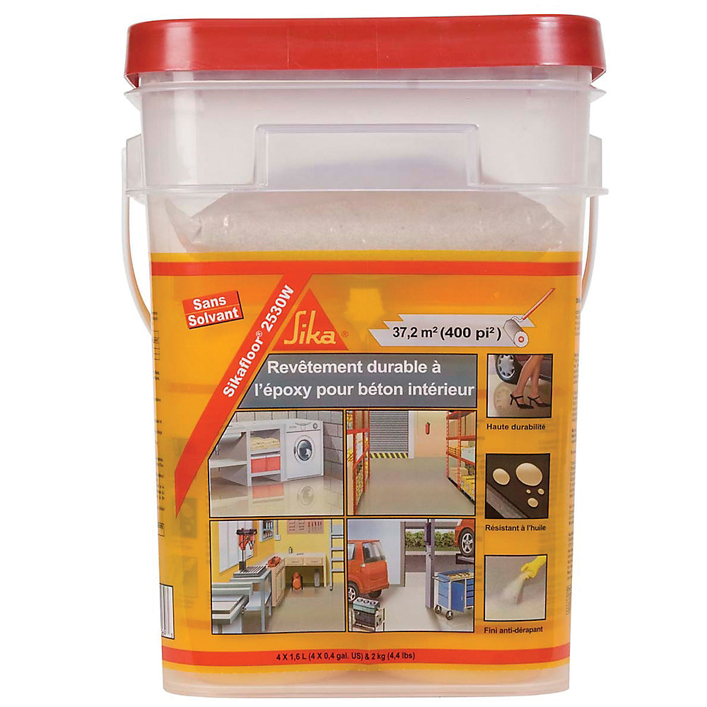 Sika Floor 2530w 2 Part Epoxy Paint Grey The Home