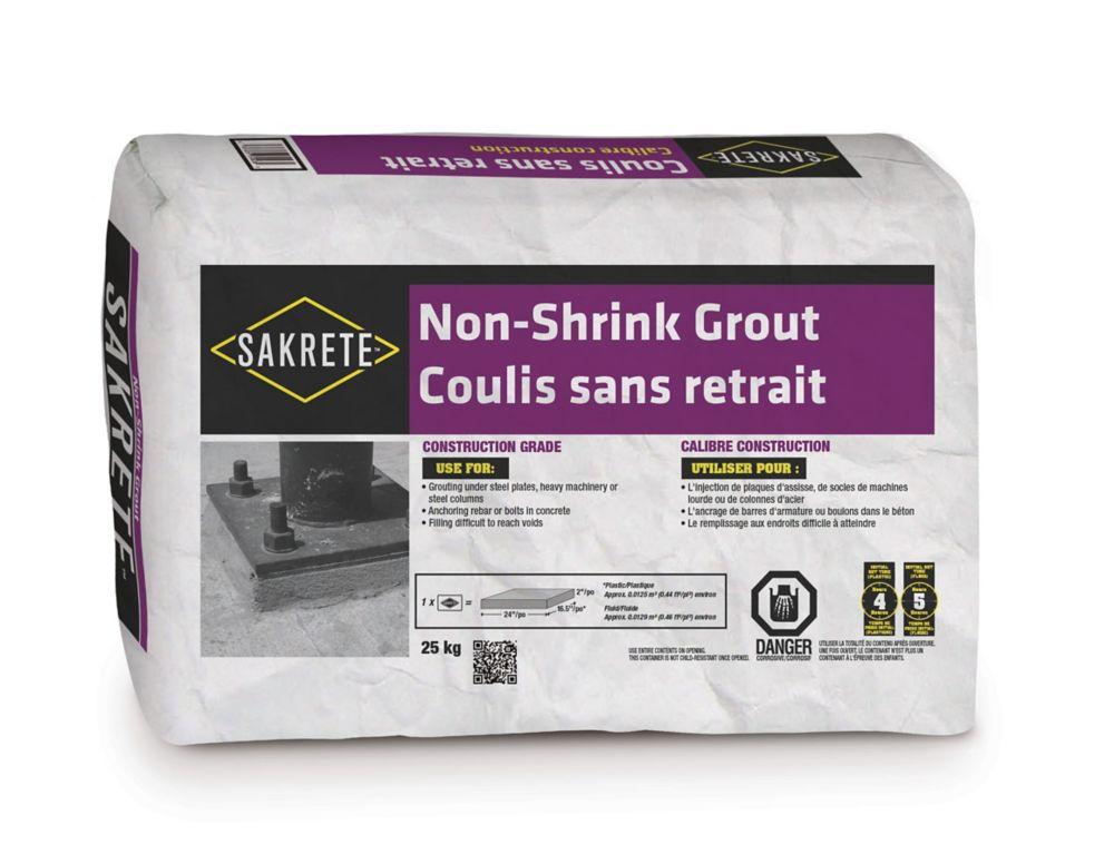 Coulis sans retrait, 25 kg