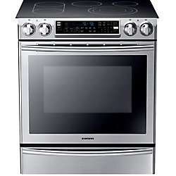 5.8 cu. ft. Slide-in Electric Range with Flex Duo Oven in Stainless Steel