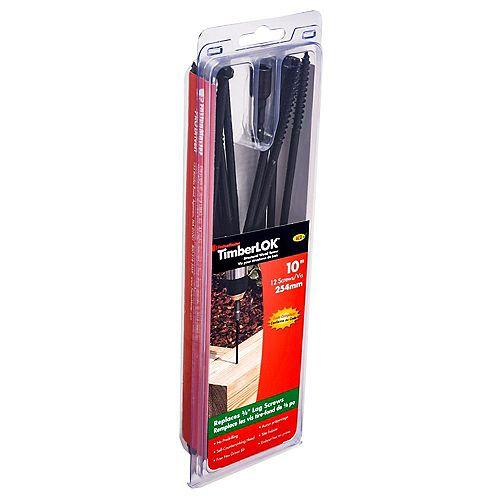 FastenMaster 10 Inch. Timberlok 12-Piece