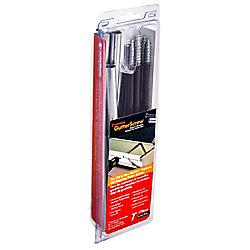 FastenMaster 7 Inch. Gutter Screws Brown 10-Piece