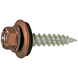 Paulin 10 x 1-1/2-inch Self-Sealing Roofing / Siding Screw - Brown Coloured