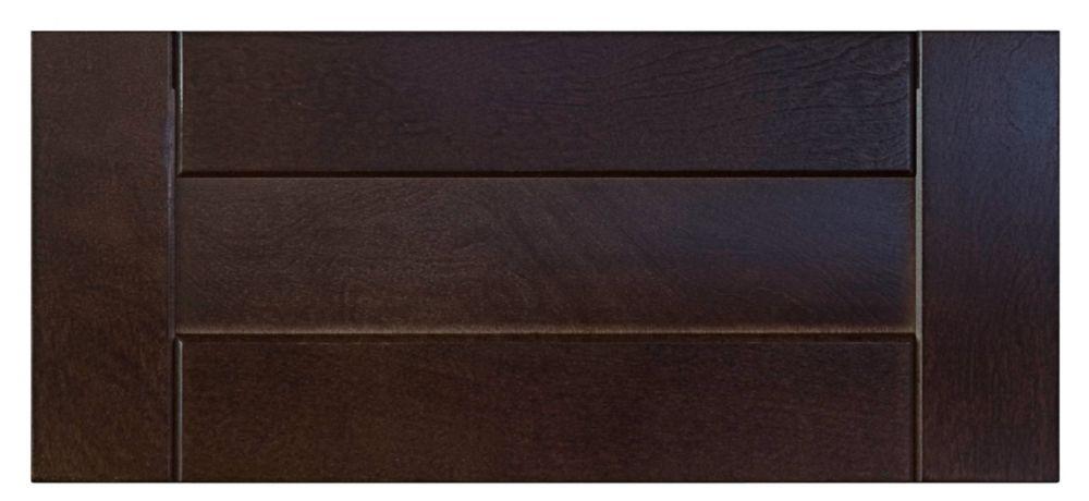 Wood Drawer front Barcelona 17 3/4 x 7 1/2 Choco