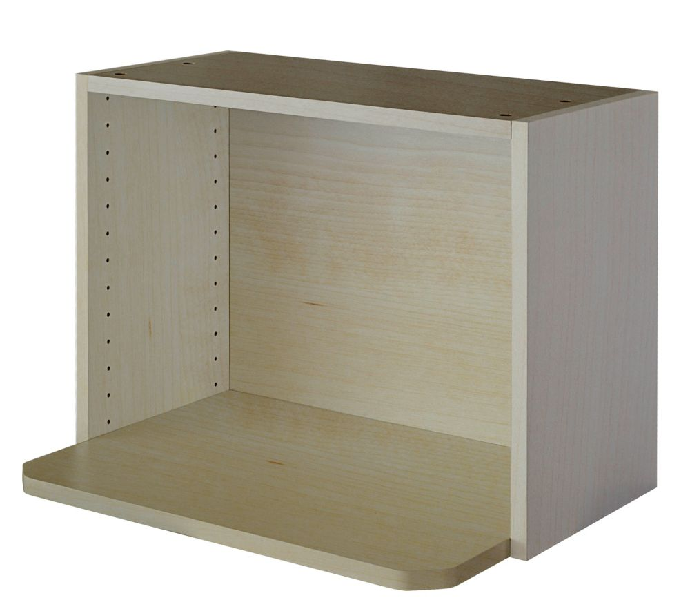 Microwave Cabinet 24 x 17 5/8 Melamine Maple