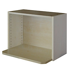 Microwave Cabinet 24 x 17 5/8 Melamine Maple