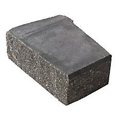 Stackstone Charcoal Advanced Corner Retaining Wall Block