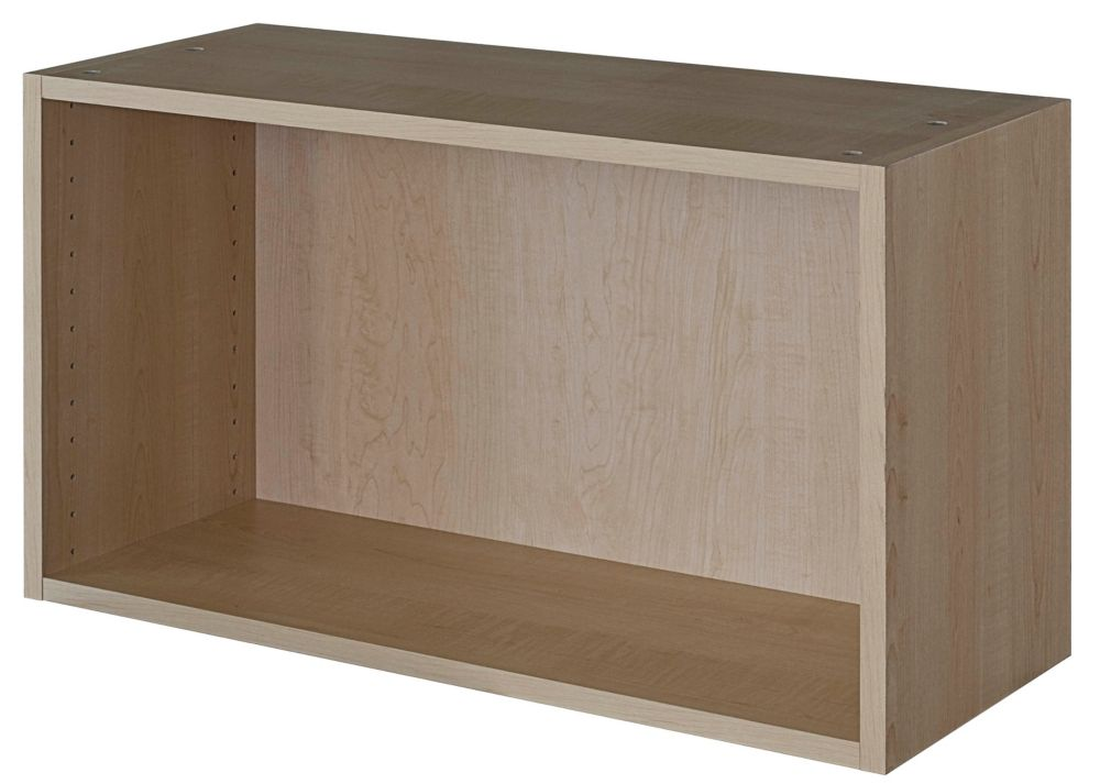 Eurostyle wall cabinet 30 1 4 x 17 5 8 maple the home for Eurostyle kitchen cabinets