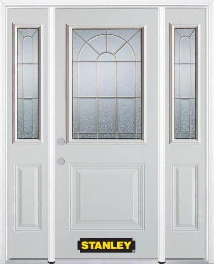 Stanley doors 64 inch x 82 inch elisabeth 1 2 lite 1 panel for Home depot exterior doors canada