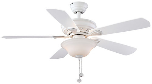 Hampton bay wellston 44 inch led ceiling fan in matte white with wellston 44 inch led ceiling fan in matte white with remote control mozeypictures Choice Image