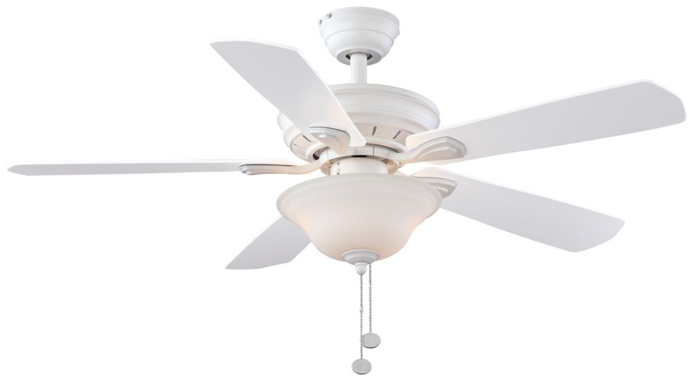 Ceiling fans hampton bay hunter more the home depot canada wellston 44 inch led ceiling fan in matte white with remote control aloadofball Image collections