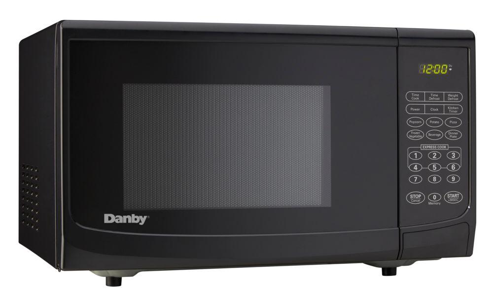 Designer 0.9 cu. ft. Countertop Microwave in Black