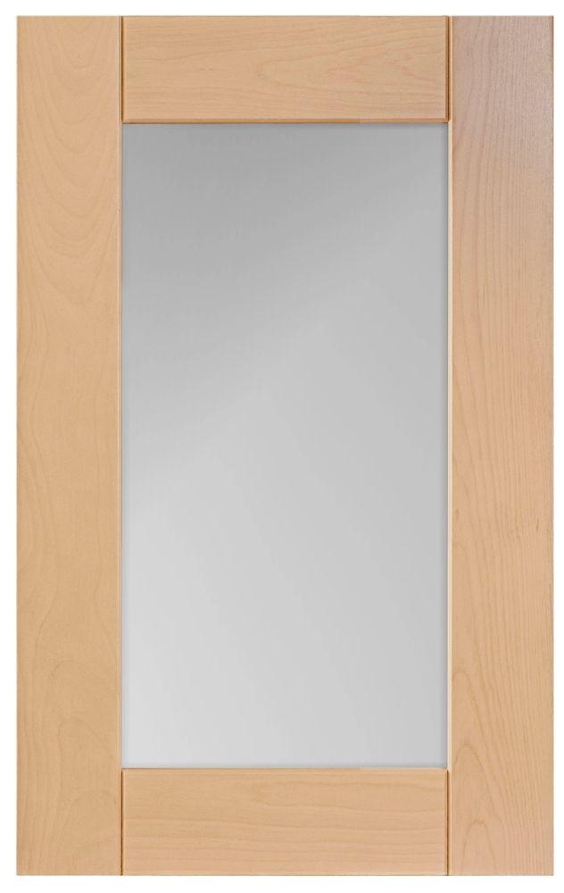 Wood Glass Door Milano 17 3/4 x 30 1/8 Natural