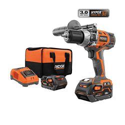 RIDGID 18V Lithium-Ion Hammer Drill/Driver Kit