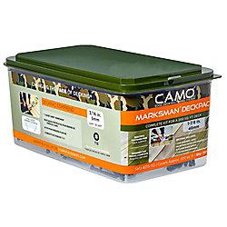 Camo 7 X 1-7/8 pouces Star Drive - Attaches de pont et kit de démarrage de la tête de coupe et de l'outil en vert - 700-pièces