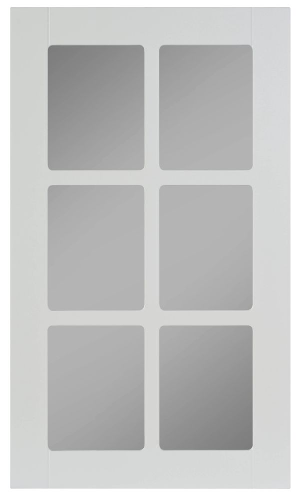 Thermo Glass Door Odessa 17 3/4 x 30 1/8 White