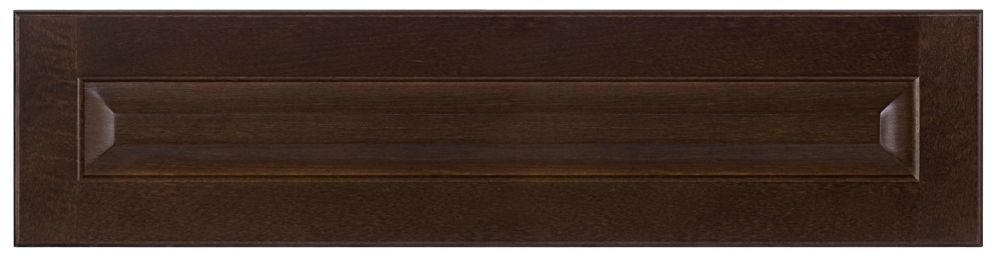 Wood Drawer front Naples 30 x 7 1/2 Choco