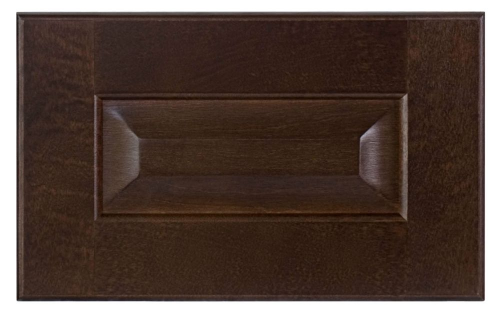 Wood Drawer front Naples 11 7/8 x 7 1/2 Choco