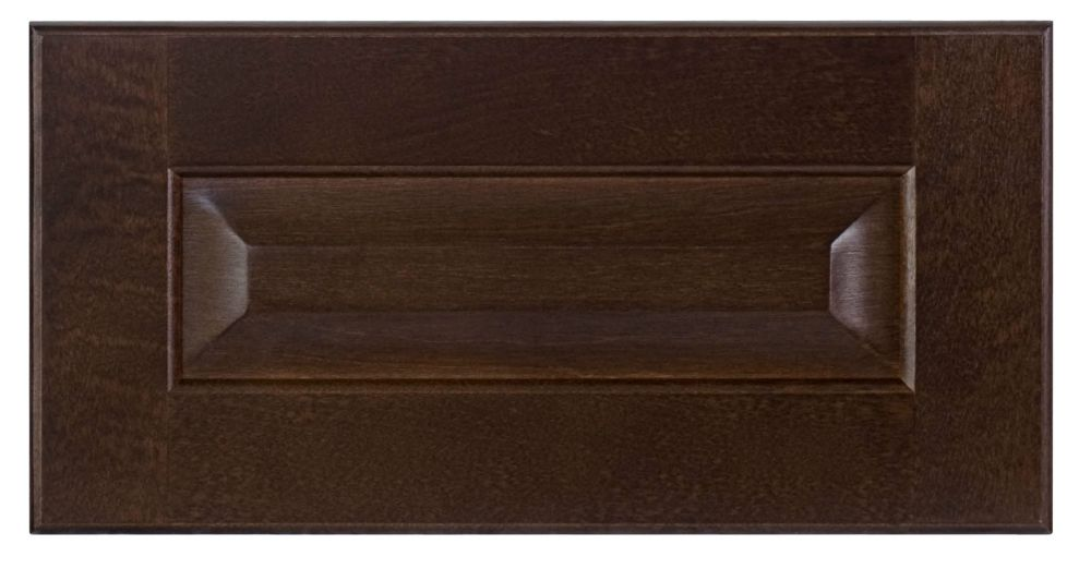Wood Drawer front Naples 15 x 7 1/2 Choco