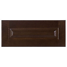 Wood Drawer front Naples 17 3/4 x 7 1/2 Choco