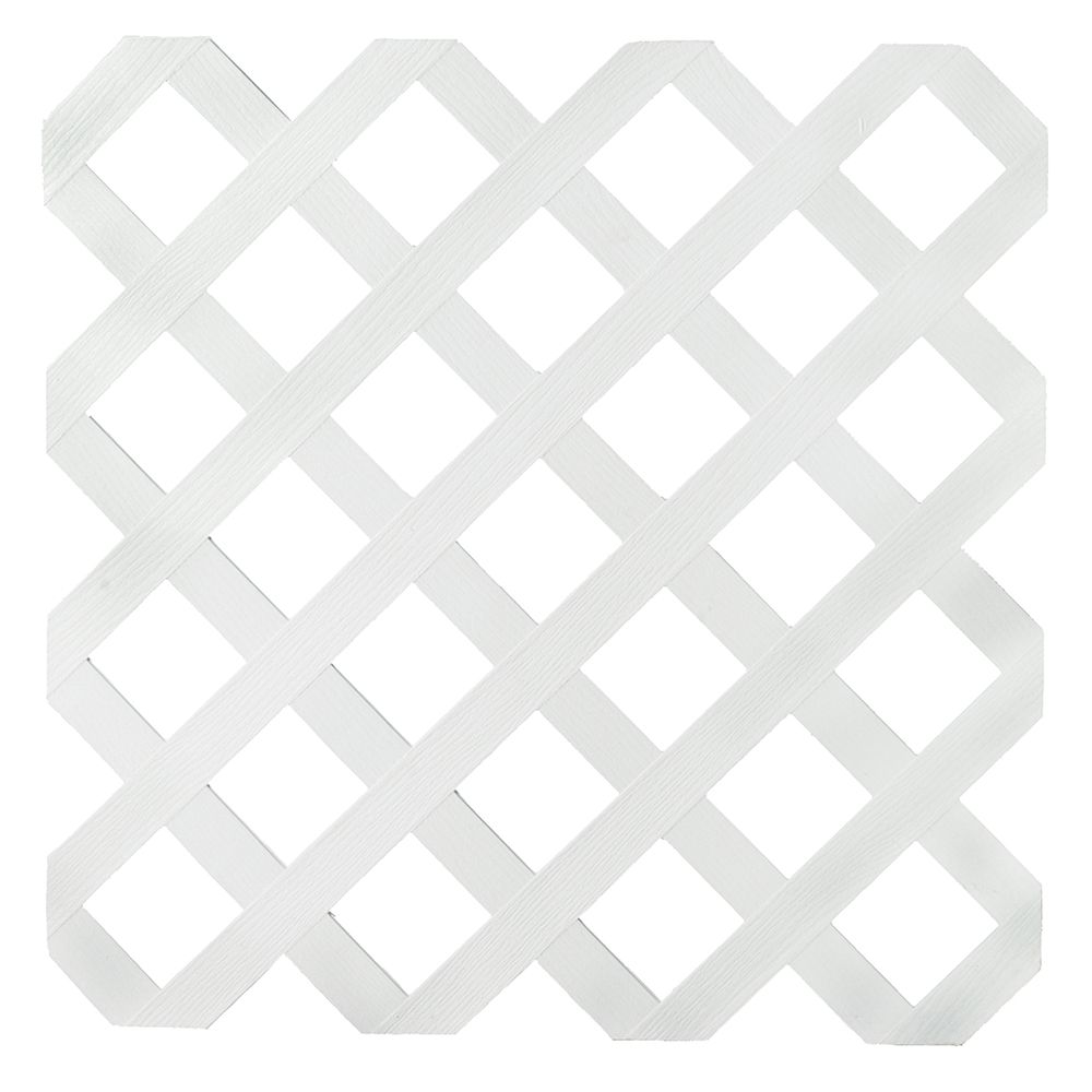 Veranda 2x8 White Reg Plstc Lattice