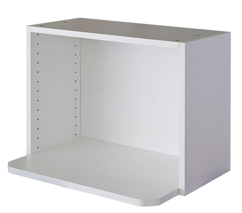 Kitchen Cabinet Microwave Shelf: Eurostyle Microwave Cabinet 24 X 17 5/8 Melamine White